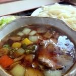 之乃屋 - 野菜をふんだんに使用した鴨汁