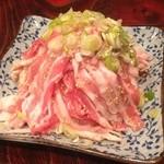 道 - 豚バラモヤシ焼き650円