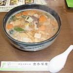 出合茶屋 - 猪汁そば \1100 麺はウドン・ラーメンも選べます。どれも味噌味ですのでウドンにすれば良かったかも・・・
