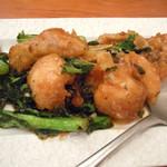 17749407 - 太刀魚と菜の花の四川風炒め♪