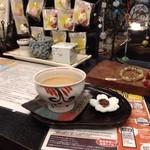 17749907 - お味見で頂いたコーヒー♪&お菓子☆