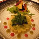 17752643 - 前菜②(エビとアボカドのムースとヤングコーン)