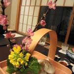 日本料理 木の花 - 八寸のあしらいはすばらしいね