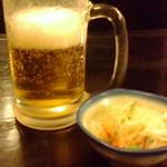 侍 - 生ビールとお通し