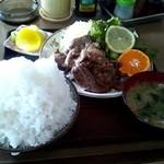 17753234 - 焼肉定食(生姜焼き)のご飯大盛り☆1000円(2013/3)