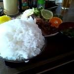 17753236 - 焼肉定食(生姜焼き)のご飯大盛り☆1000円(2013/3)