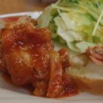 グリーングラス - 前菜三種(鶏、鮭、海老)&サラダ