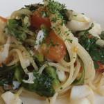グリーングラス - 真鱈とほうれん草のパスタ