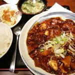 Chinese Dining ナンテンユー - 麻婆豆腐定食@700円