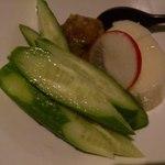 ねじ式 - 胡瓜と長芋の梅たたきアップ!