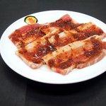 焼肉屋マルキ - 豚カルビ焼青唐辛子味噌焼