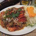 チョークディー - 料理写真:車海老の香草和え