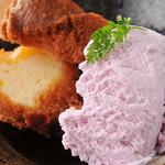 DEIGO - 食後のデザートに♪サーターアンダギーwithブルーシールアイス