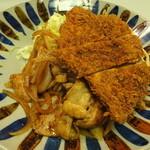 キッチン台栄 - チキンカツしょうが焼き