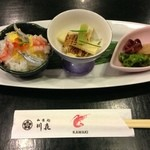 17761072 - 季節の前菜とミニちらし寿司