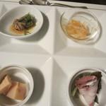 レストラン亀遊亭 - 前菜4種