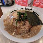 和とら - 黒とらラーメン(650円)、半熟玉子(100円)、メンマ(100円)