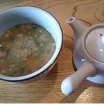 かつ屋 - スープ割り