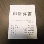 フレンチダイニング竜 - レシート