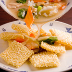 中国料理 西街 - オコゲのシーフードソースかけ