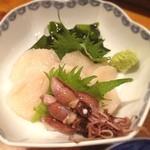 松紀 - ホタテ頼んだら蛍イカのおまけ。癒しのお店です^ ^