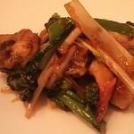 海鮮中国料理黄河 - 2013年3月、ミル貝と春野菜の生姜炒め