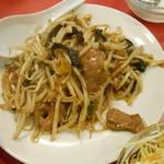 長安刀削麺 - ニラが少なくモヤシばかり
