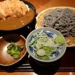 高田屋 - 期間限定カツカレー丼と日本蕎麦のセット(980円)