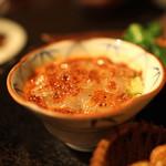 黒猫夜 - 春前菜盛合せ:    のれそれの麻辣ソース、