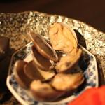 黒猫夜 - 春前菜盛合せ:    浅利の貴州風