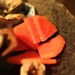 黒猫夜 - 春前菜盛合せ:    紅芯大根