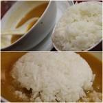 担々亭 - 残りスープにライスダンク!!