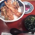 17799294 - 朝食セットメニュー 天丼 ¥980