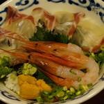 17799475 - 桜鯛、甘海老、ウニの海鮮丼