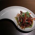 chuugokuryourichimmin - 牛肉とみぶ菜炒め