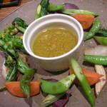 エクスキ - 焼き野菜のアンチョビソース