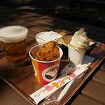 上野動物園 西園食堂 - カラアゲ、ビールなどなど♪