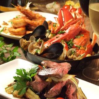 【充実コース】オマール海老とバル料理/お手頃価格2名様より可