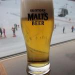 和食堂 松風 - ゲレンデバックの生ビール