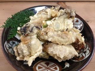 とり八茶屋 - 牡蠣の天婦羅