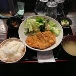 立呑み こじま - 日替ランチ とんかつ 500 円!