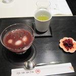 虎屋菓寮 - 冷し汁粉(漉し餡)