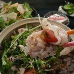 iRORi - あさのポークのしゃぶ肉で雑穀米を巻いた感じ。
