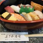 美さ和寿し - 料理写真:寿司ランチは桶で
