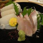 函館 海や - 「活け〆ほっけ(1人前)」と「スルメいかのお造り」
