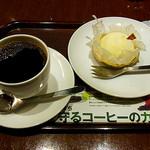 上島珈琲店 - ブレンドコーヒー(M)・チーズケーキ