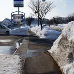 名代 三角そばや - すごい雪だけど、晴れていて気持ちがいい~