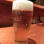 魚 しんのすけ - 生ビール