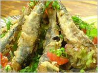 eL MamBo - 地魚のアンダルシアフリット。スパイスの香りが食欲を刺激します。その日の仕入れで魚は変更します!