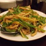 景徳鎮 - 豚肉とピーマンの細切り炒め